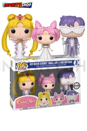 Funko POP! Sailor Moon- Queen Serenity, Small Lady, King Endymion